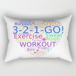 Love to Exercise & Work Out - Workout Love Rectangular Pillow