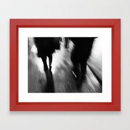 A Walk in the Rain Framed Art Print