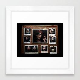 Snow White and 'The Gang' Framed Art Print