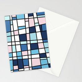 Mid Century Modern Metrics Stationery Cards