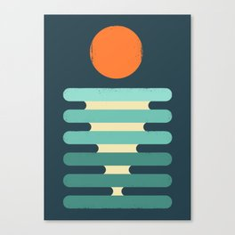 Minimalist ocean Canvas Print