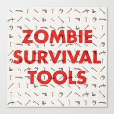 Zombie Survival Tools - Pattern 'o tools Canvas Print