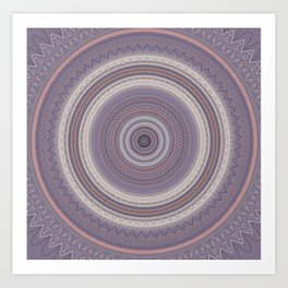 Delicate Lavender Boho Chic Mandala Art Print