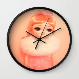 Pretty Pink Pose Doll Wall Clock