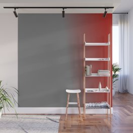 Ombre in Gray Red Wall Mural