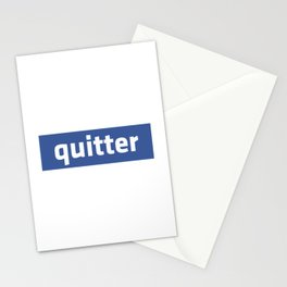quitter Stationery Cards
