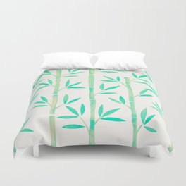 Bamboo Stems – Mint Palette Duvet Cover