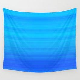 Blue Sea Stripes Wall Tapestry