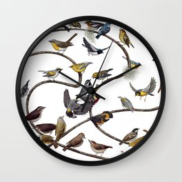 Warblers of New England Wall Clock