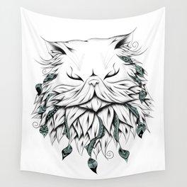 Poetic Persian Cat Wall Tapestry