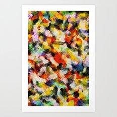 Starry halftone Art Print