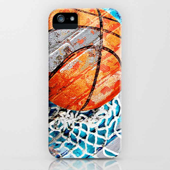 modern basketball art 3 iphone case