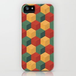 Retro Cubic iPhone Case