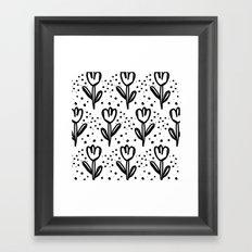 tulips filed Framed Art Print