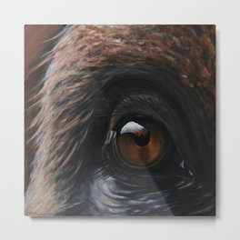 Inaction - Orangutan 2 Metal Print