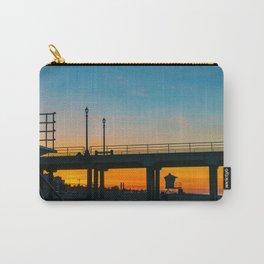 Sunrise Under Huntington Beach Pier. Carry-All Pouch
