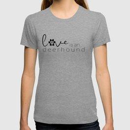 Dog Paw Print Design - Deerhound T-shirt