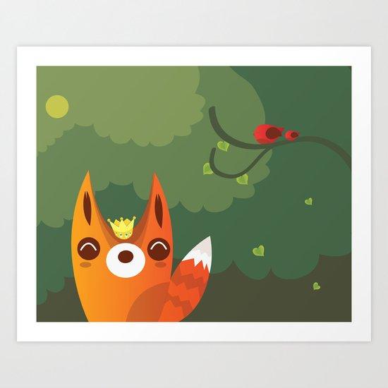 Kingfox Art Print