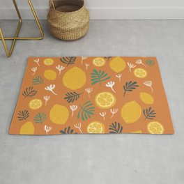 Frest Lemon on orange Summer On Rug