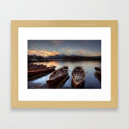 Derwent Water Rowing Boats Framed Art Print