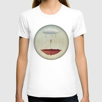 karen T-shirts featuring embracing the rain by Vin Zzep