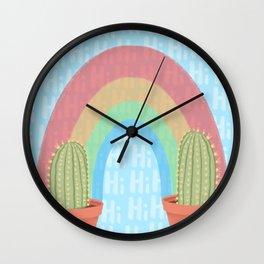 Rainbows and Cactuses Wall Clock