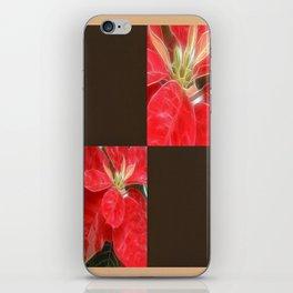 Mottled Red Poinsettia 1 Ephemeral Blank Q3F0 iPhone Skin