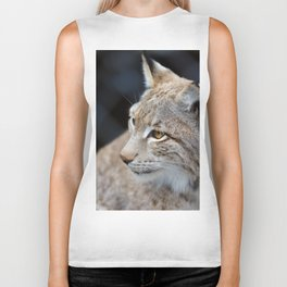 Young lynx close-up portrait Biker Tank