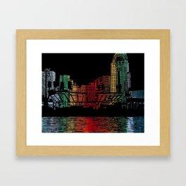 Cincinnati Nights Framed Art Print