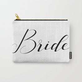 Bride - Black on White Carry-All Pouch