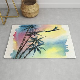 Palm Colorful Scenery Rug