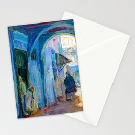 Henry Ossawa Tanner Street in Tangier Stationery Cards