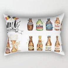 Belgium Beers Rectangular Pillow