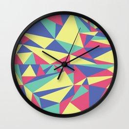 Tri-Color Pattern Wall Clock