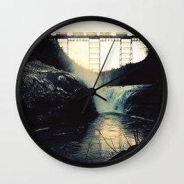 trestle dusk Wall Clock