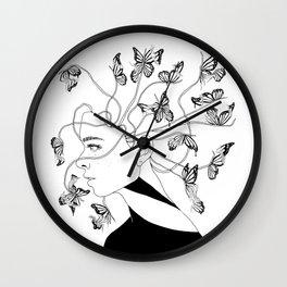 Figments II (Head Full of Broken Realities) Wall Clock