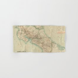 Vintage Map of Costa Rica (1903) Hand & Bath Towel