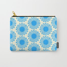 Vintage Flower_Turquoise Carry-All Pouch