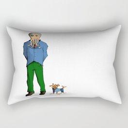 Squidman Doesn't Pick Up Poo Rectangular Pillow