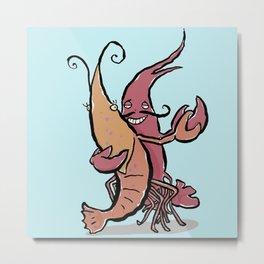 Swaying Lobster Metal Print