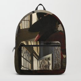 "Johannes Vermeer ""Soldier and a Laughing Girl"" Backpack"