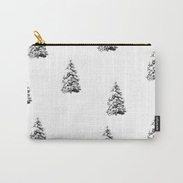 Newspaper Print Pine Trees Carry-All Pouch