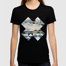 Geo Marble - Natural and Blue #buyart #marble T-shirt