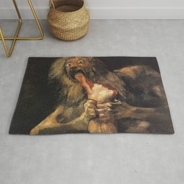 SATURN DEVOURING HIS SON - GOYA Rug