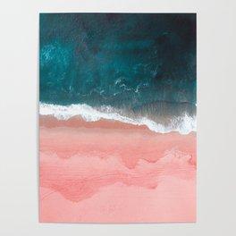 Turquoise Sea Pastel Beach III Poster
