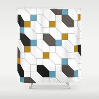 depeche mode Shower Curtains featuring Mode by blacknote