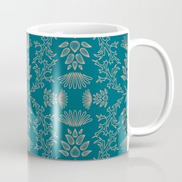 Thistle Outline on Blue Coffee Mug