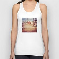 memphis Tank Tops featuring Memphis Street by wendygray