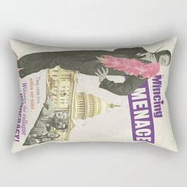 The Mincing Menace Rectangular Pillow