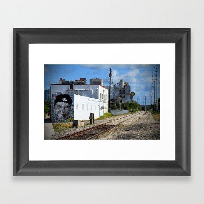 Railroad Face Framed Art Print